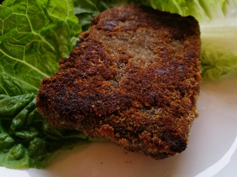 Wegańska ryba tofu - smażone tofu w nori - WEGAŃSKA WIGILIA