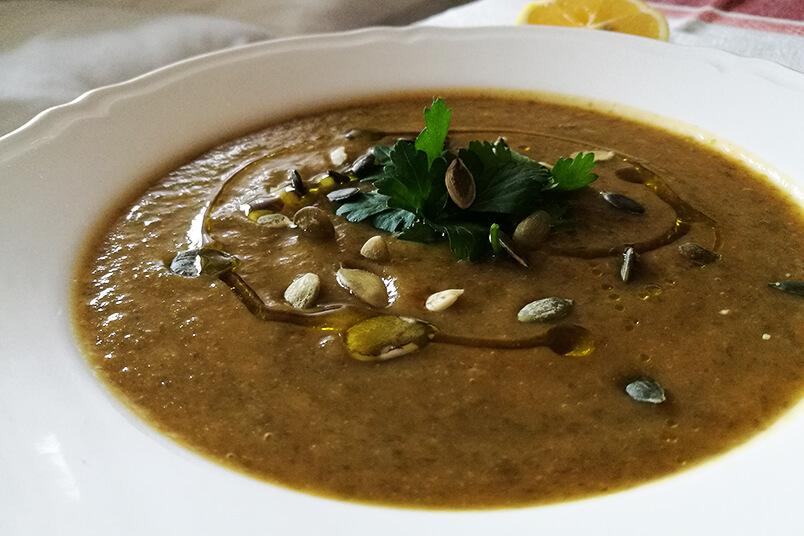 Wegańska zupa rybna - kremowa wigilijna zupa - WEGAŃSKA WIGILIA