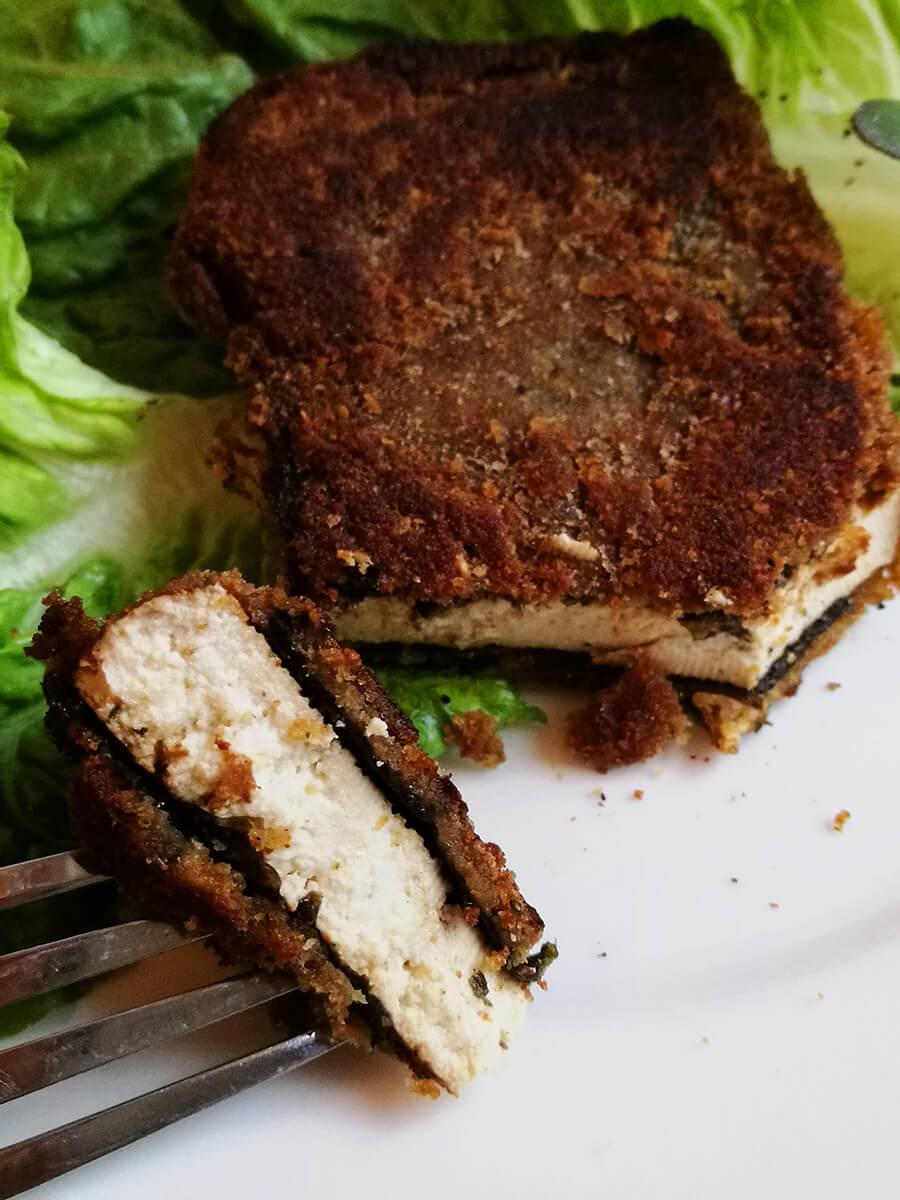 Wegańska ryba tofu – smażone tofu w nori – WEGAŃSKA WIGILIA
