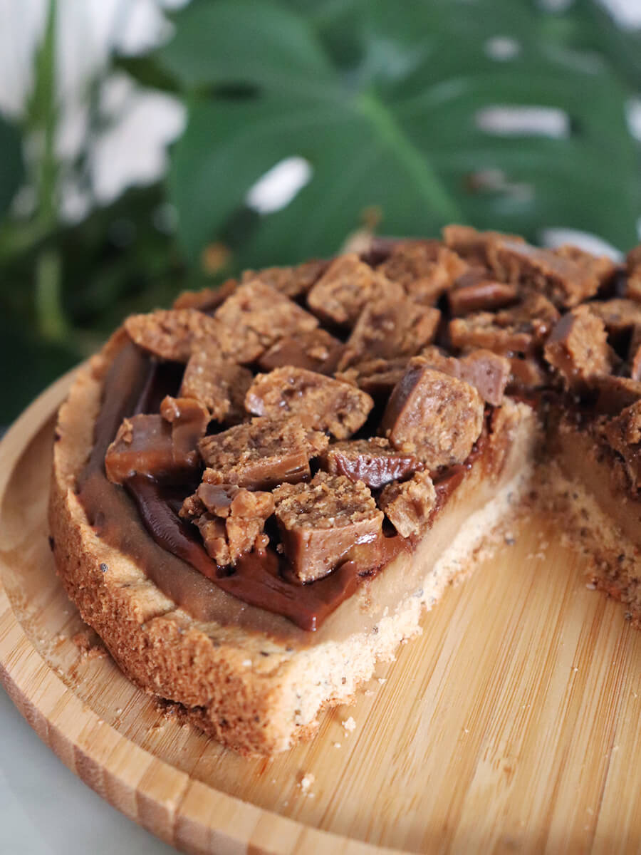 Krówkowa tarta Super Krówka- wegańskie krówkowe ciasto toffi
