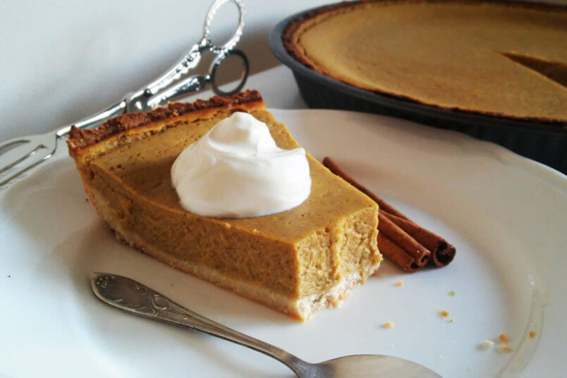 Piernikowa bezglutenowa tarta z nadzieniem z dyni - pumpkin pie
