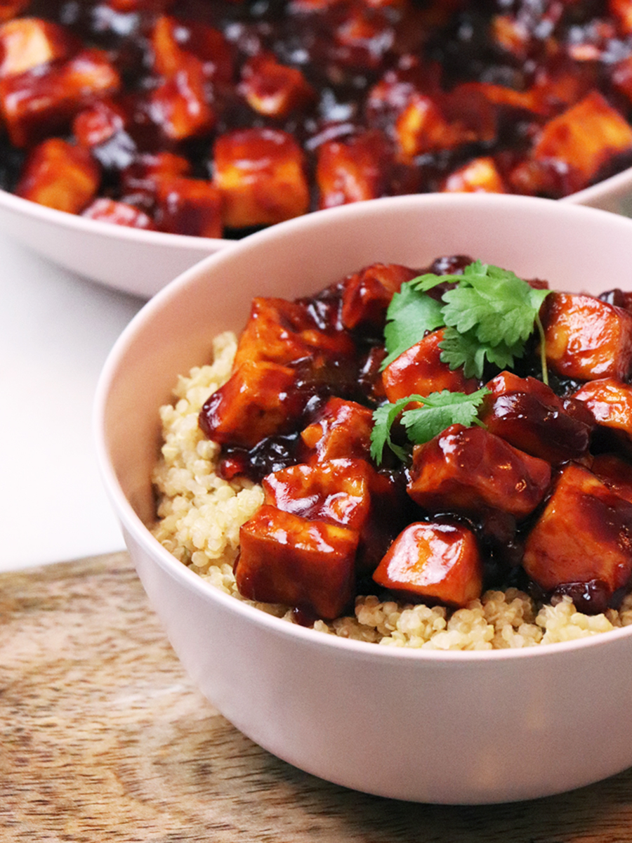 Tofu w sosie barbecue - roślinne i wegańskie TOFU BBQ
